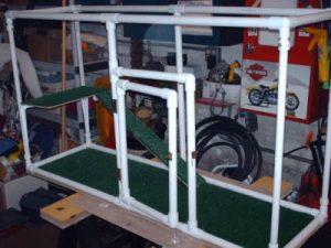 PVC cage frame