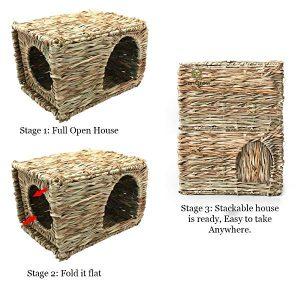 Foldable guinea pig hidey house